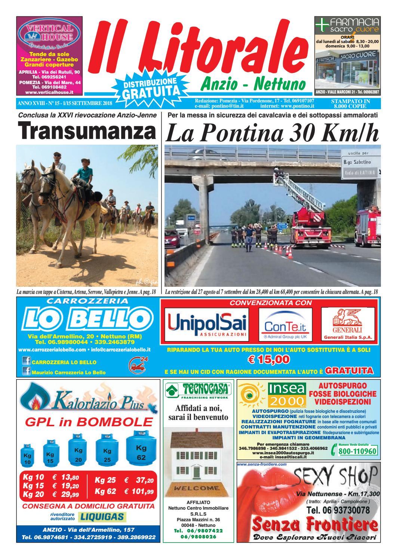prezzo basso outlet sfumature di Il Litorale - Anno XVIII - N. 15 - 1/15 Settembre 2018 by Il ...