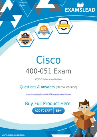 Best 400-051 Dumps to Pass CCIE Collaboration 400-051 Exam
