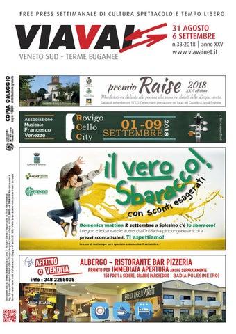 viavai 31 agosto 2018 by Via Vai Veneto Sud - Terme Euganee - issuu 1f496719d4c78
