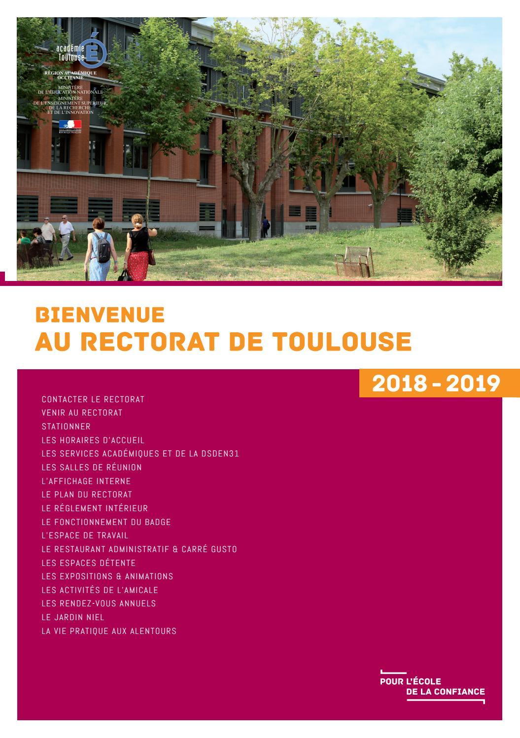 Bienvenue Au Rectorat De Toulouse By Academie De Toulouse Issuu
