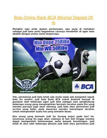 Bola Online Bank Bca Minimal Deposit 25 Rb By Lovemain303 Cs4 Issuu