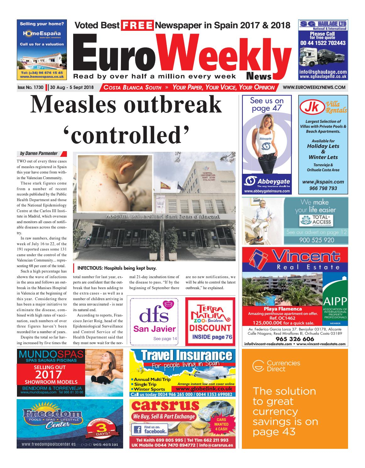 Euro Weekly News - Costa Blanca South 30 August - 5