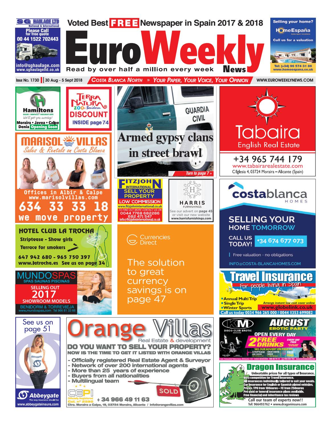20b9263ba7c9 Euro Weekly News - Costa Blanca North 30 August - 5 September 2018 Issue  1730