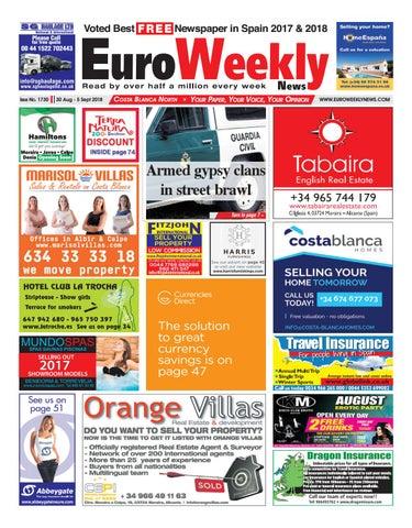 43e8e1fed Euro Weekly News - Costa Blanca North 30 August - 5 September 2018 ...
