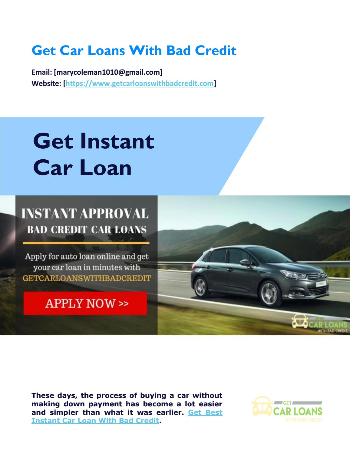 Buy Instant Auto Loan Approval With Bad Credit Online by