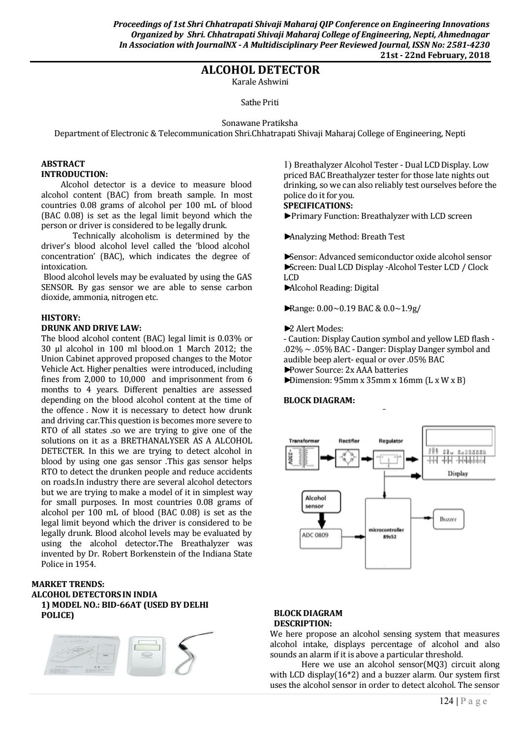 Journalnx Alcohol Detector By Issuu Breathalyzer Wiring Diagram