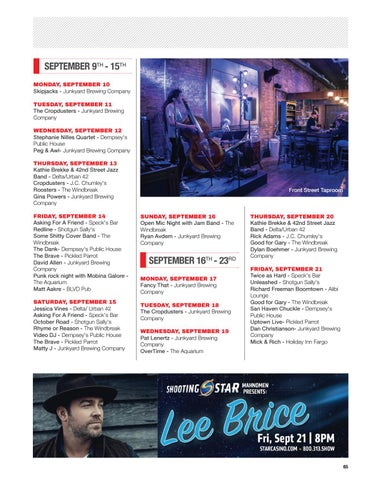 Page 67 of September Live Music