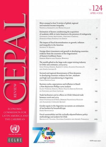 CEPAL Review No 124 By Publicaciones De La CEPAL Naciones