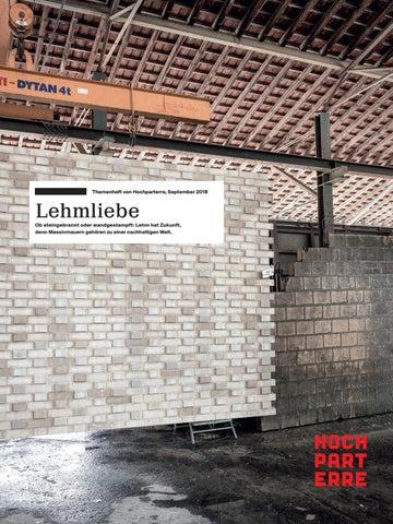 Lehmliebe By Hochparterre Ag Issuu