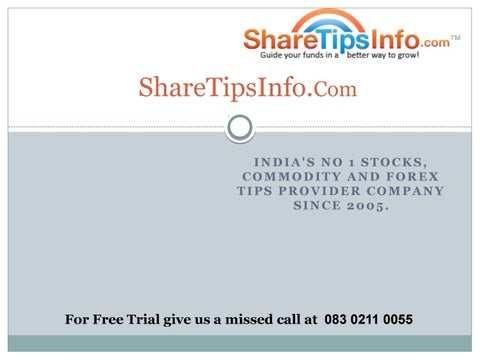Indian Stock Market Commodity Trading Tips Future Tips