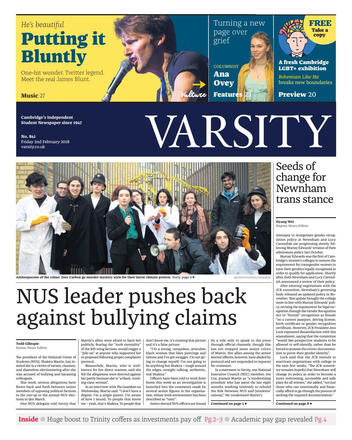 Varsity Issue 8 by Varsity Publications Ltd   issuu