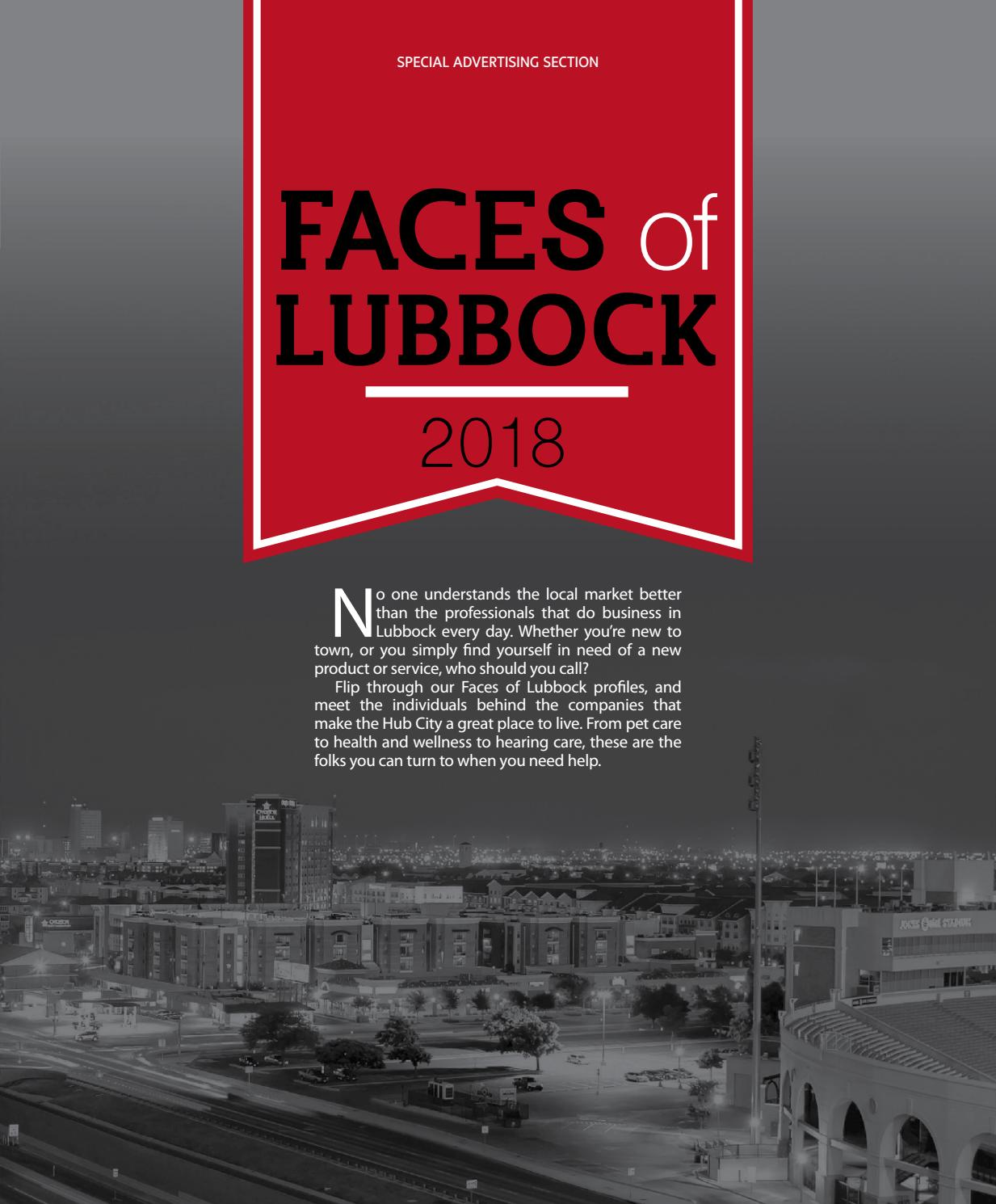 Faces Of Lubbock 2018 By Lubbock Magazine Issuu