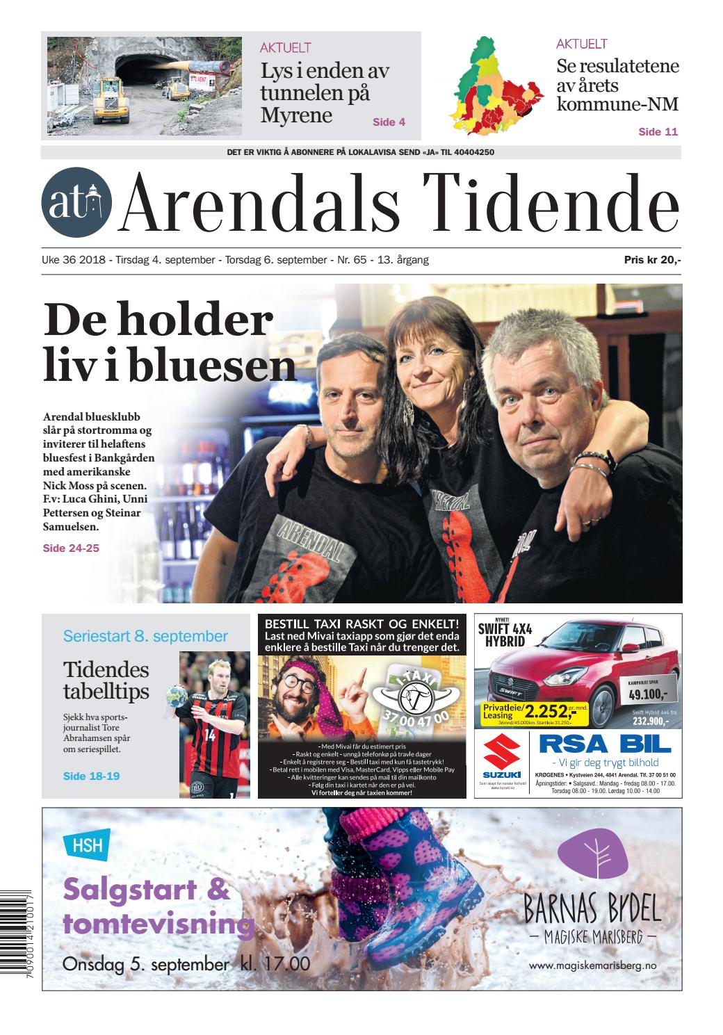 9280c625 Arendals Tidende uke 36 - nr 65 by Tvende Media AS - issuu