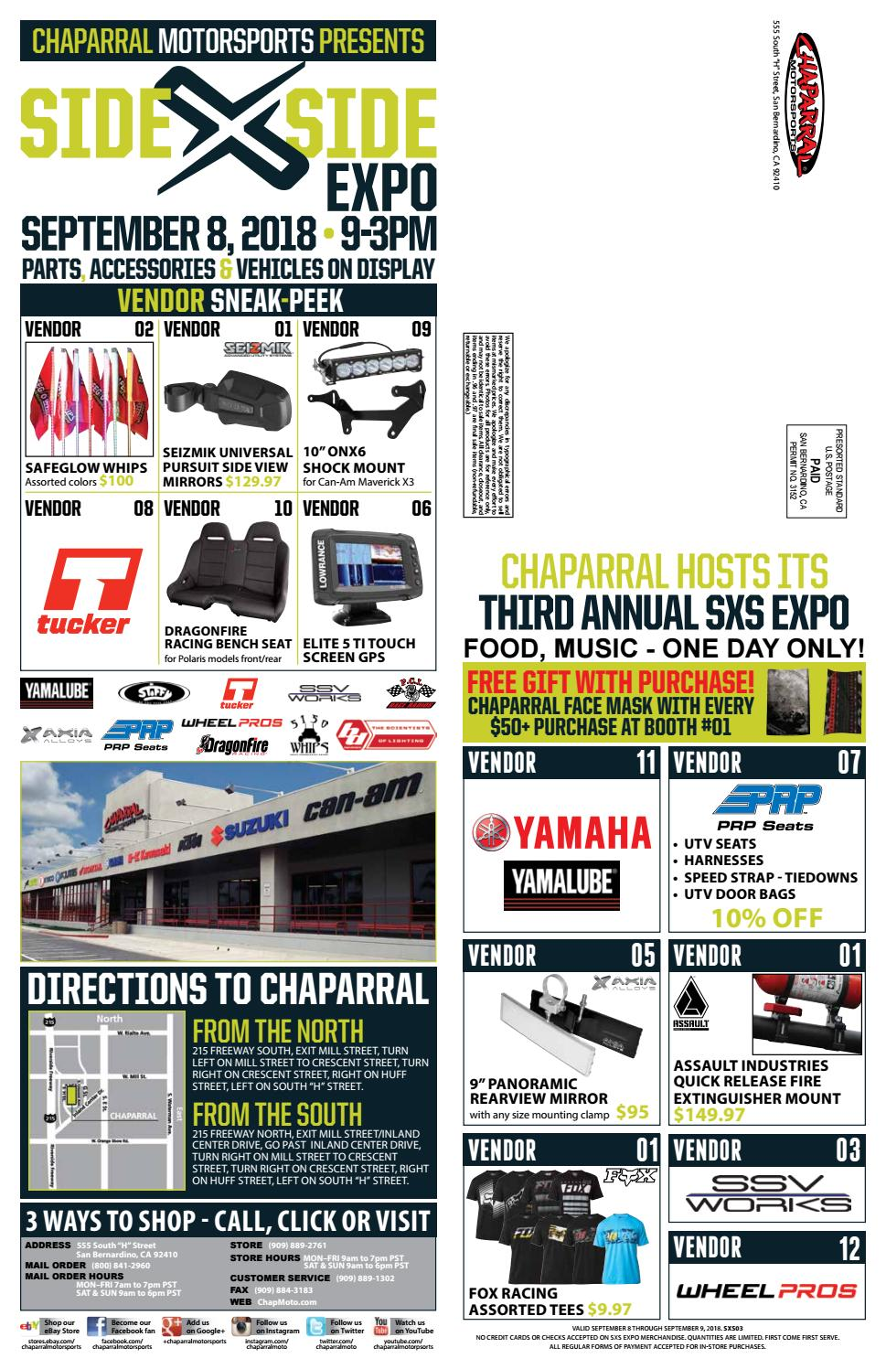 2018 Chaparral Motorsport Side by Side Expo Sales Flyer by