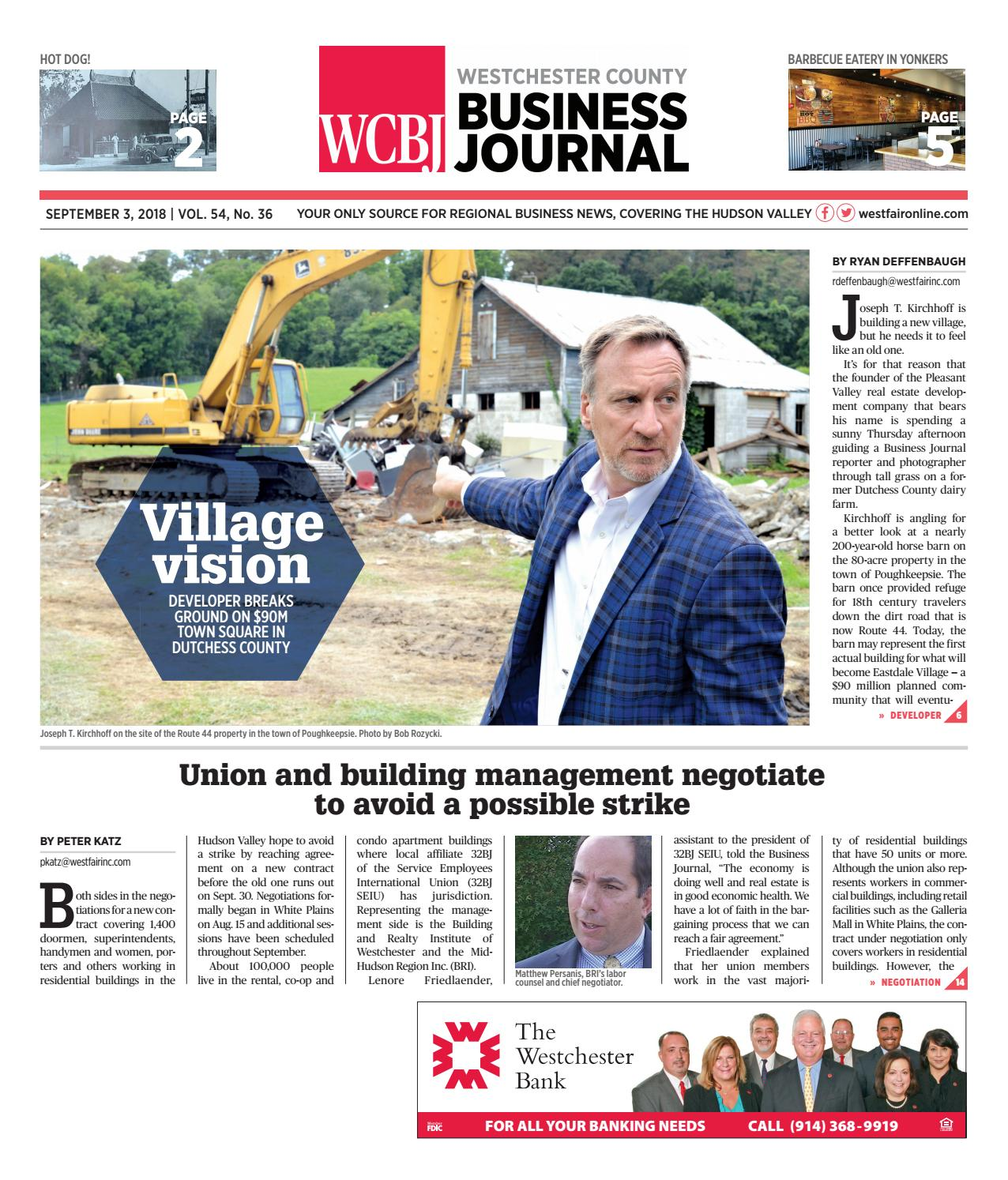 Westchester County Business Journal 090318 by Wag Magazine - issuu