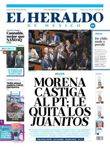 1f91adbf2365 Edición Impresa jueves 30 de agosto de 2018 by El Heraldo de México ...