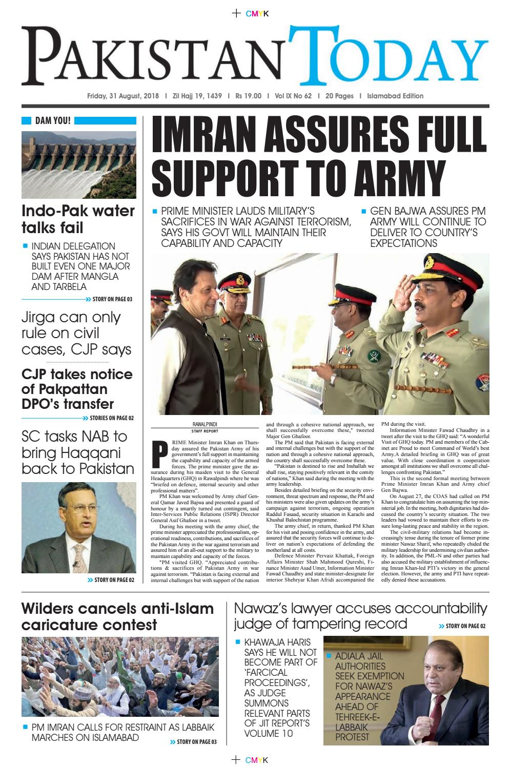 E-Paper PDF 31 August 2018 (ISB) by Pakistan Today - issuu