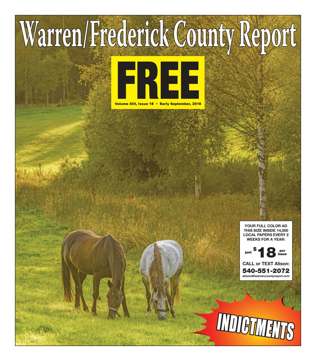 Early September 2018 Warren/Frederick County Report by