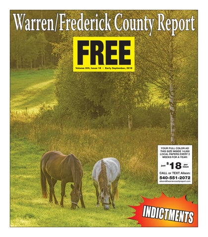 Early September 2018 Warren/Frederick County Report by Warren