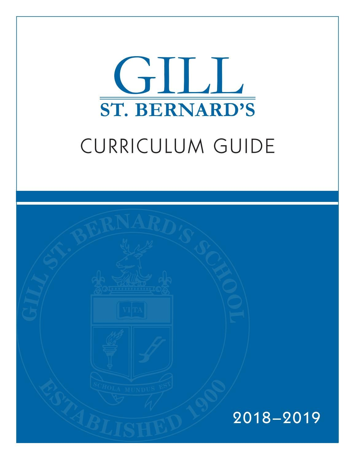 GSB Curriculum Guide 2018-2019 by Gill St. Bernard\'s School - issuu