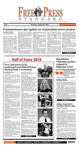 Free Press Standard 8 30 2018 By Schloss Media Issuu
