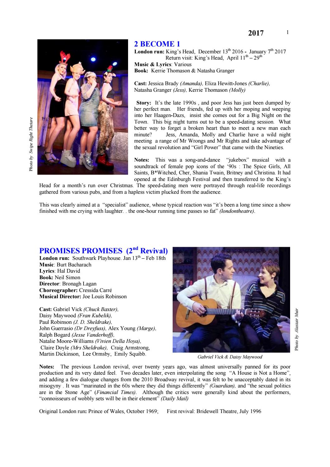 London20musicals20201720update By Ian Parsons Issuu
