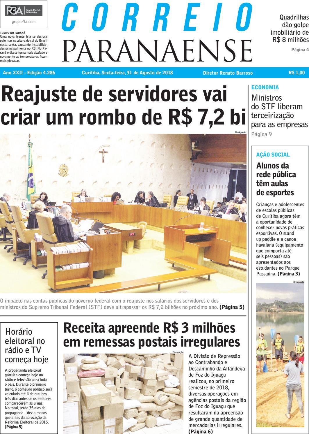 Correio Paranaense - 31 08 18 by Editora Correio Paranaense - issuu 2ac3f586adf