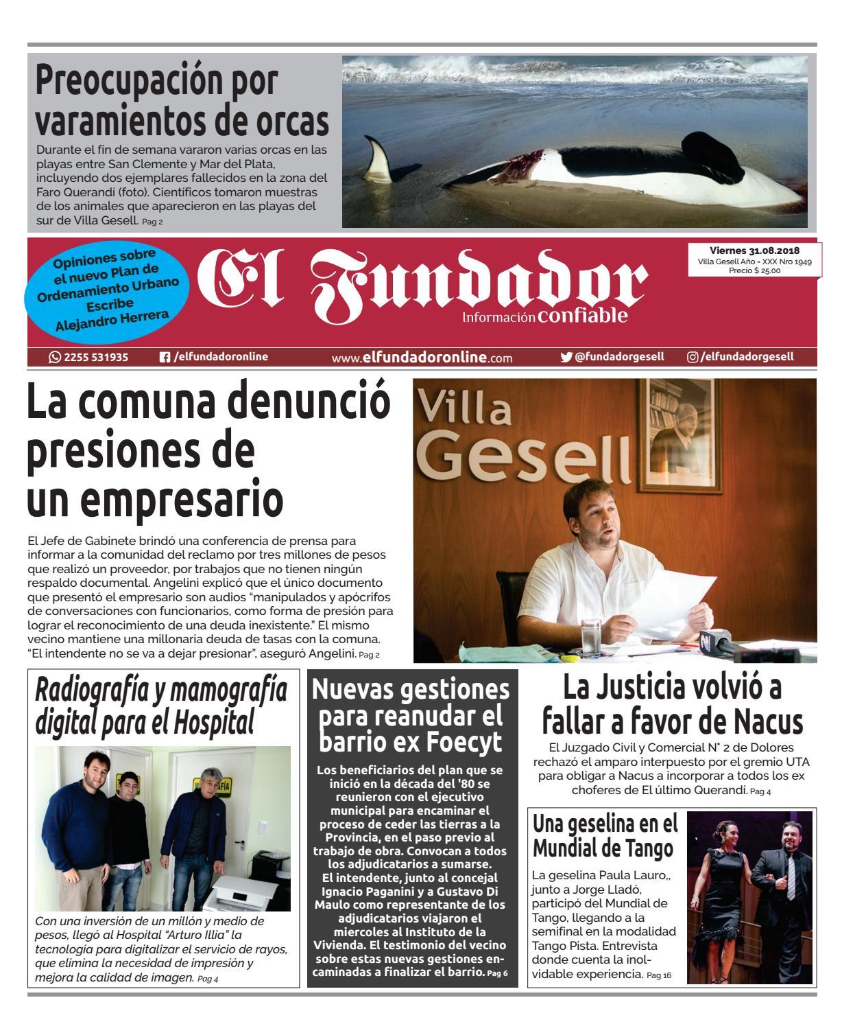 Semanario El Fundador, Edición 31/08/18 by El Fundador - issuu