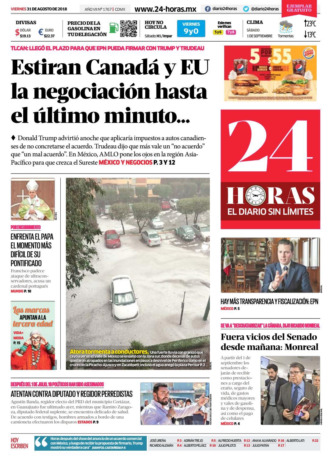 e876a4ff9 31 | Agosto | 2018 by Información Integral 24/7 SAPI de C.V. - issuu
