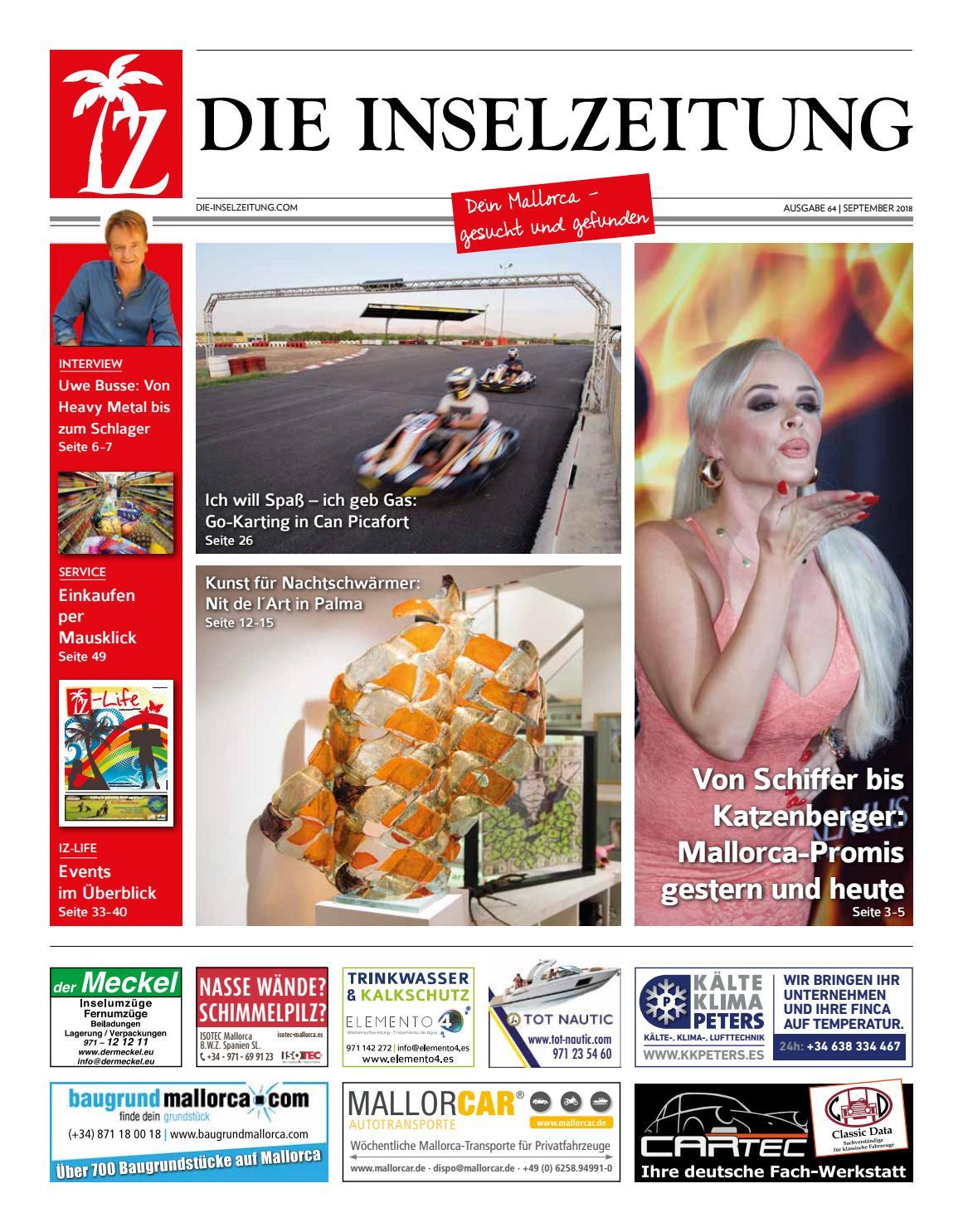 Die Inselzeitung Mallorca September 2018 by Die Inselzeitung ...