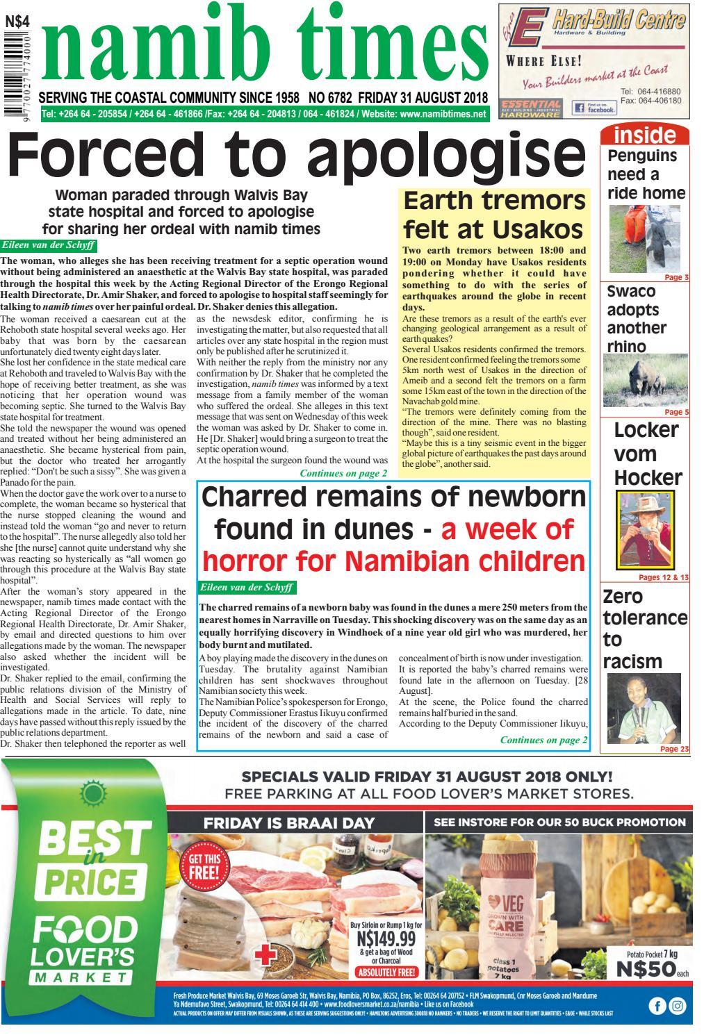 31 aug namib times e-edition by Namib Times Virtual - issuu