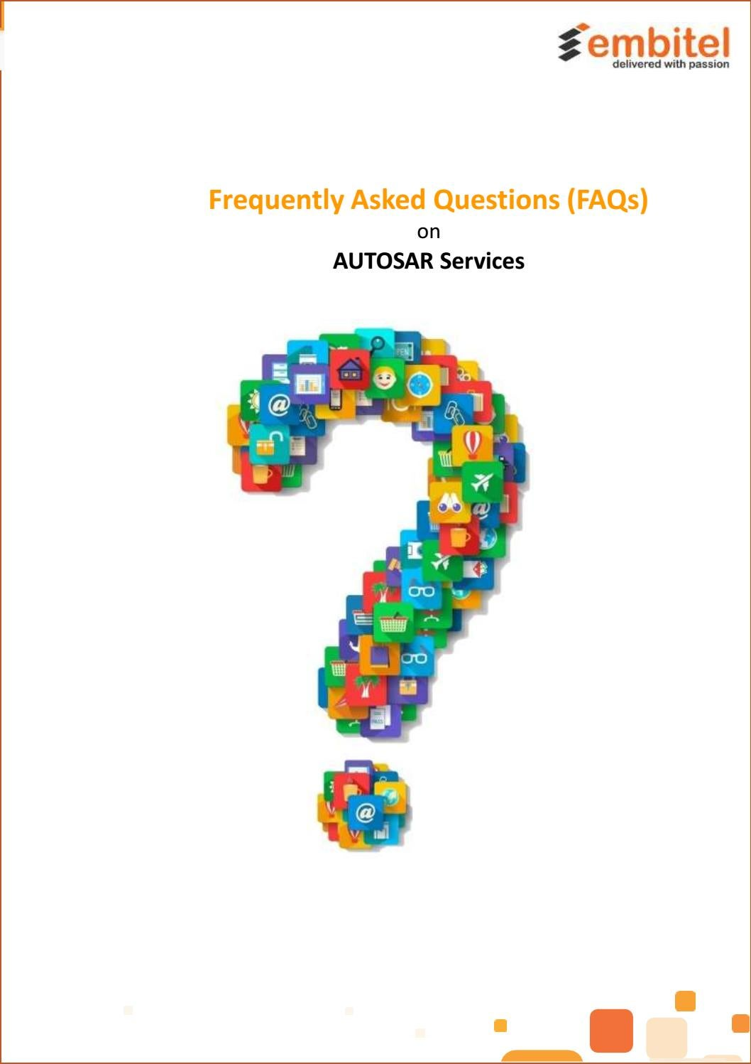 Frequently Asked Questions on AUTOSAR Services by David