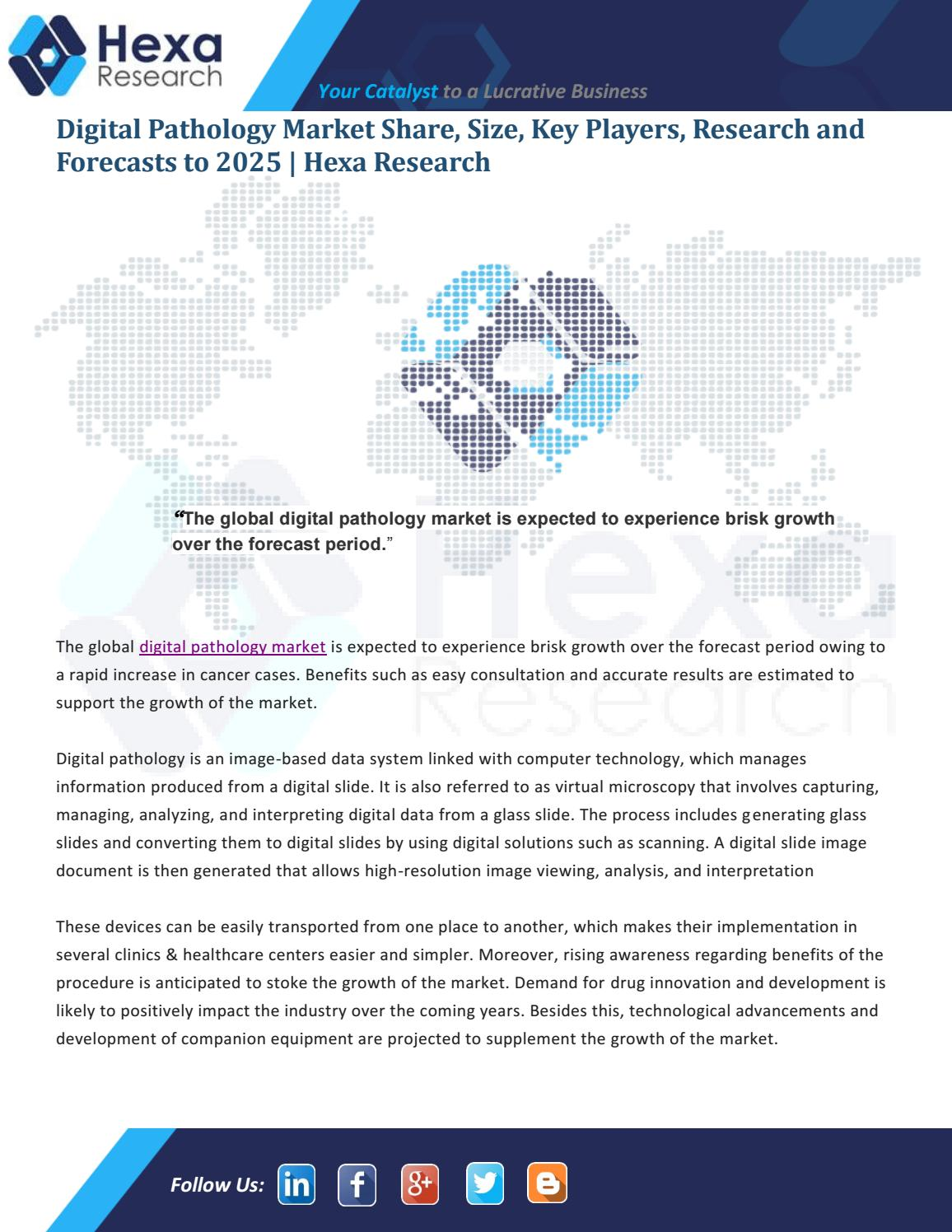 Global Digital Pathology Market Set to Grow Exponentially