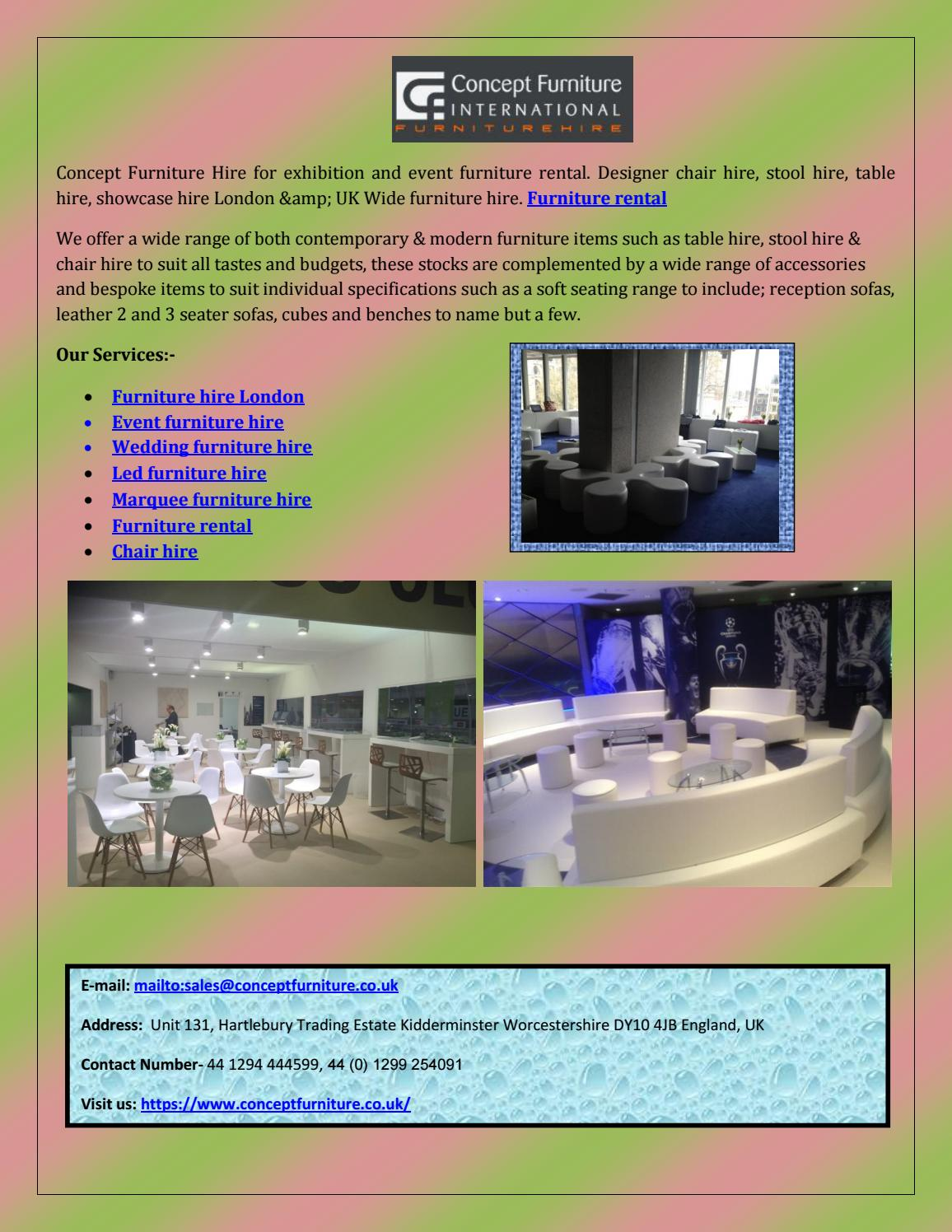 Concept furniture hire exhconcept furniture hire exhibitiibition and event furniture hire london