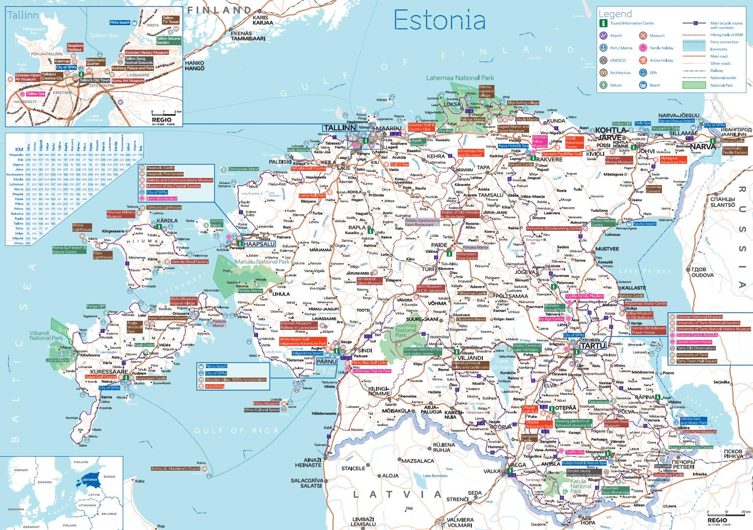 Experience Estonia Tourist Map Of Estonia By Visit Estonia Issuu