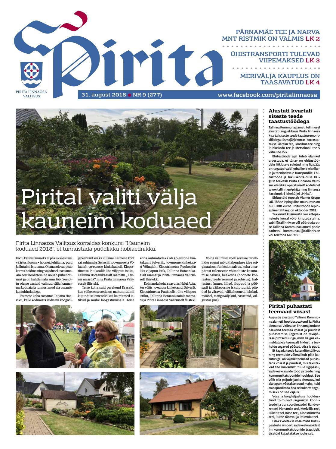 1c5fbf7027e Pirita ajaleht 31.08.18 by Piritalinnaosavalitsus - issuu