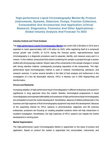 High-performance Liquid Chromatography Market by Product