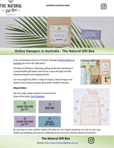 Online Hampers In Australia The Natural Gift Box By The Natural