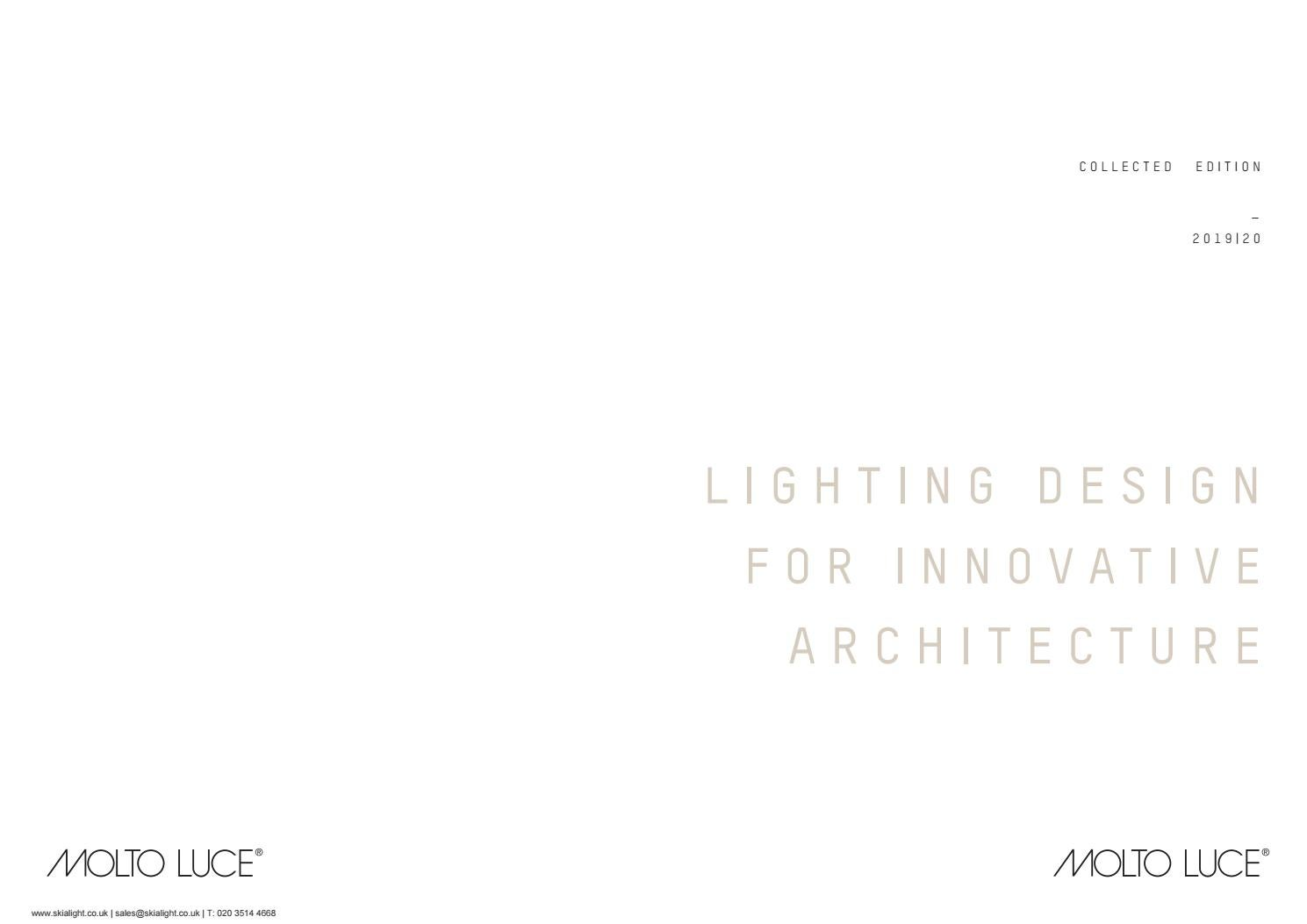 Moltoluce Architectural Lighting Catalogue 2019 By Skialight Australia 3 Circuit Led Trackspot With Inbuilt Driver Issuu