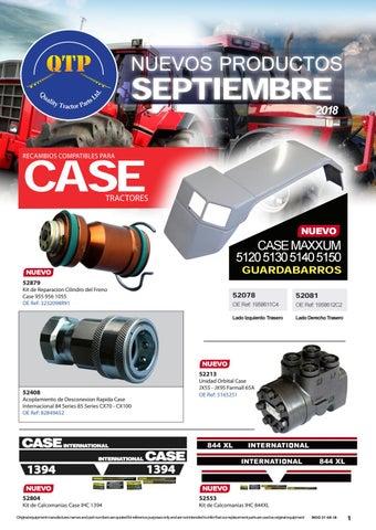 CASE//IH Puma /& Maxxum Tractor acoplamiento hidráulico Sello Kit