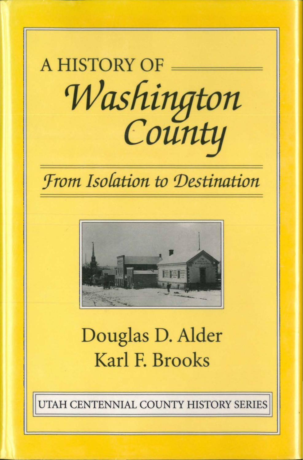 Utah Centennial County History Series Washington County