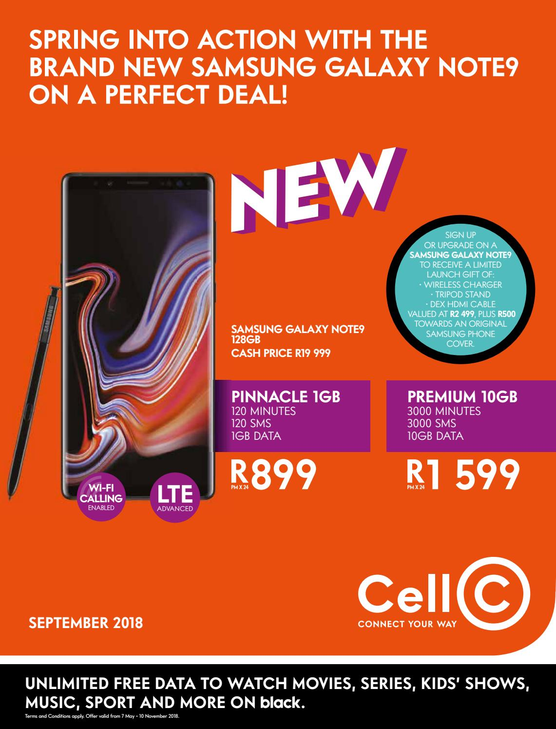 6e372a7553ed Cell C Monthly Monthly Deals Booklet September 2018 by Cell C South ...