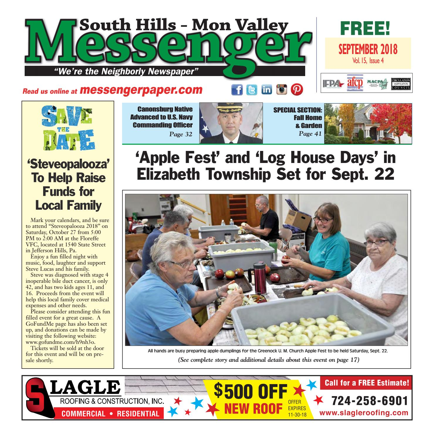 South Hills Mon Valley Messenger September 2018 by South