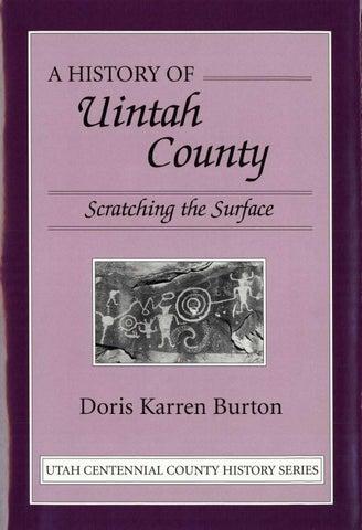 Utah Centennial County History Series Uintah County 1996 By Utah
