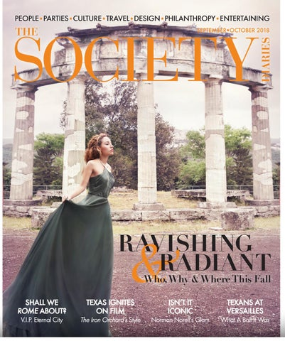 The Society Diaries September October 2018 By The Society Diaries