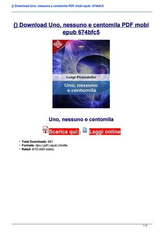 UNO NESSUNO CENTOMILA PDF GRATIS DOWNLOAD