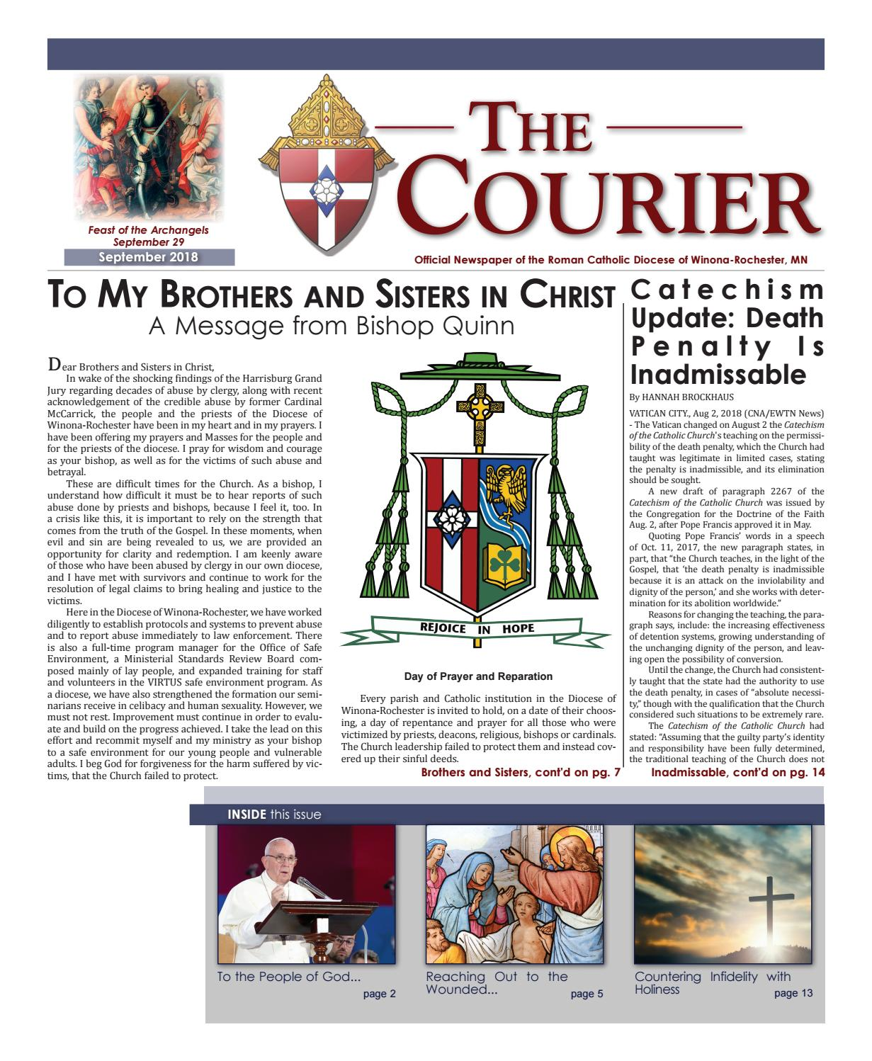The Courier - September 2018 by Diocese of Winona-Rochester