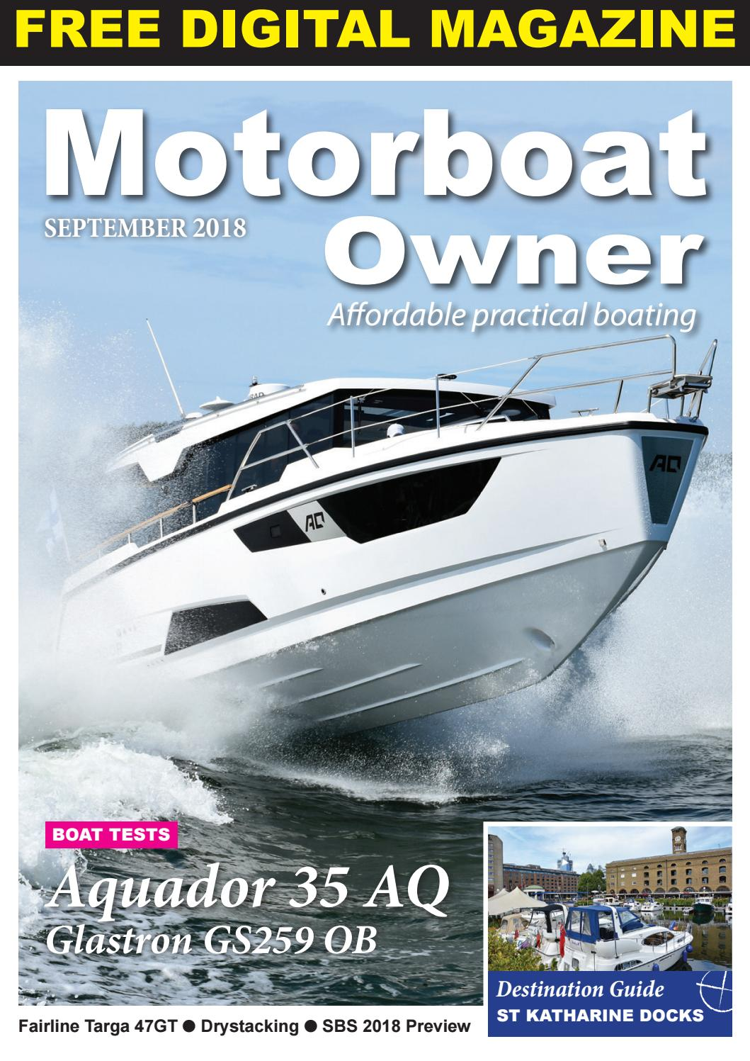 Motorboat Owner September 2018 by Digital Marine Media Ltd