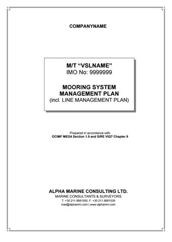 New VIQ and MEG4 Requirements for Mooring System Management Plans