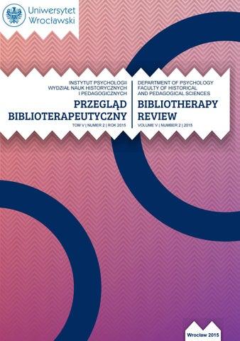 Bibliotherapy Review 2015 Vol V No 2 Przegląd